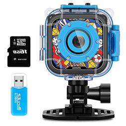 Kids Camera, iMoway Waterproof Video Cameras for Kids HD 108