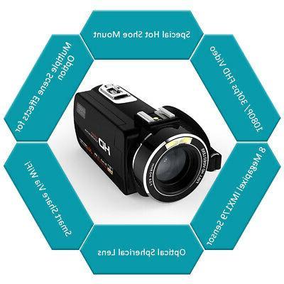Andoer 1080P Camcorder External O8T5