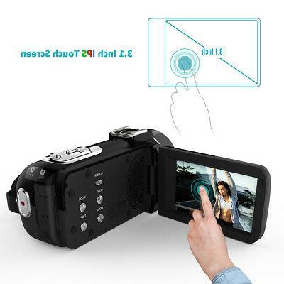 Andoer 16X 24MP WiFi Digital Camcorder Mic O8T5