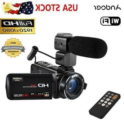 Andoer WiFi FULL HD IPS 1080P 24MP Digital Video Camera DV C
