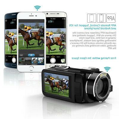 Andoer 1080P 16X WiFi Camcorder with External O8T5