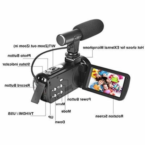 1080p HD Digital Video Vlogging Camcorder w/