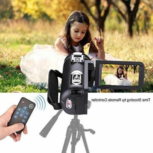 1080p 30FPS Full Digital Video Camera Vlogging Camcorder w/