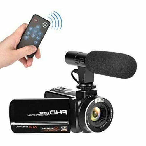 1080p 30FPS Full HD Digital Camcorder w/ Microphone