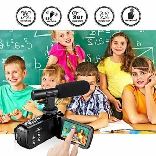 1080p 30FPS HD Digital Video Camera Vlogging Camcorder w/ Remote