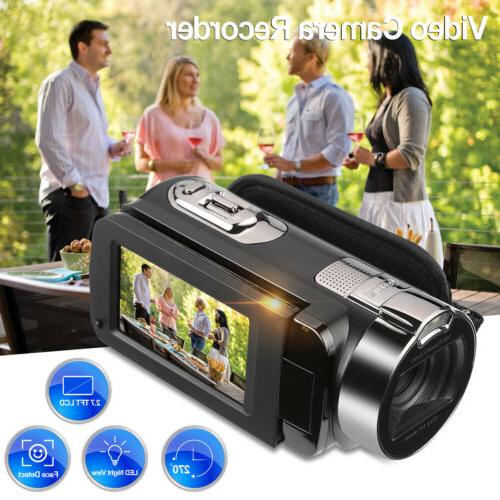 1080P Camcorder Video TFT 24MP AV Night Light