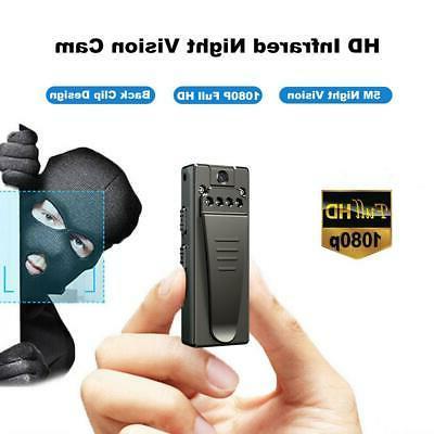 Mini Body Camera 8-hour Motion Camcorder Video Cam Black