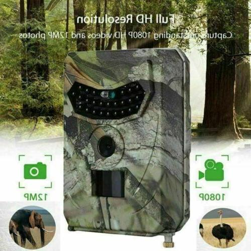 12MP Trail Camera Hunting Game Cam Low Glow Night Vision Wil