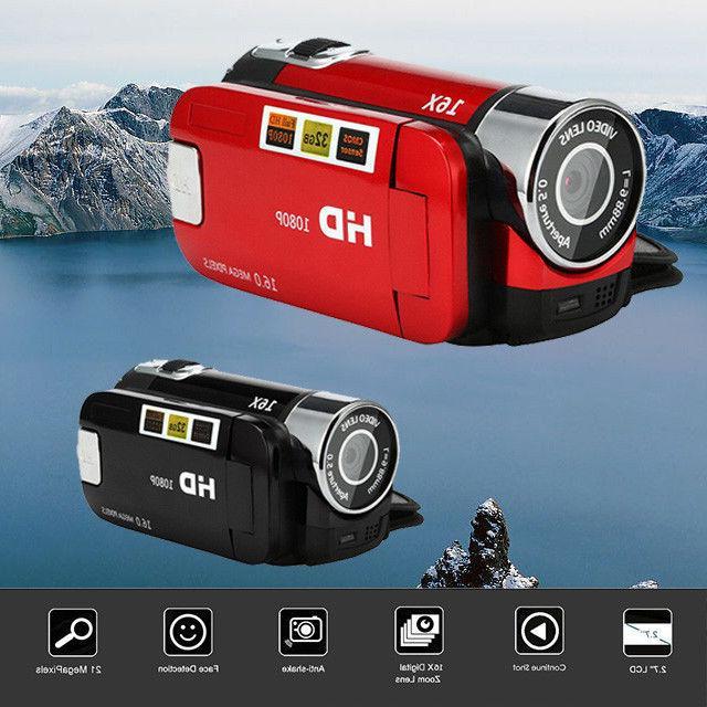 2.7'' TFT LCD Video Camcorder HD 1080P Handheld Digital Came