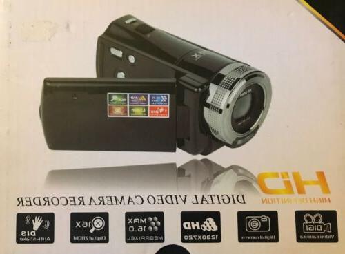 16mp hd digital video camera recorder black