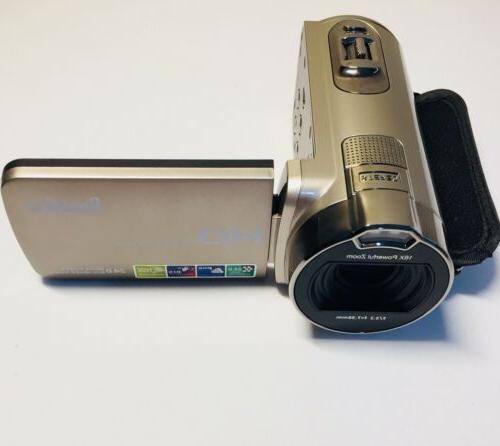 BESTEKER 1920x1080 HDV-312P Digital Zoom Video Camcorder Gold i8