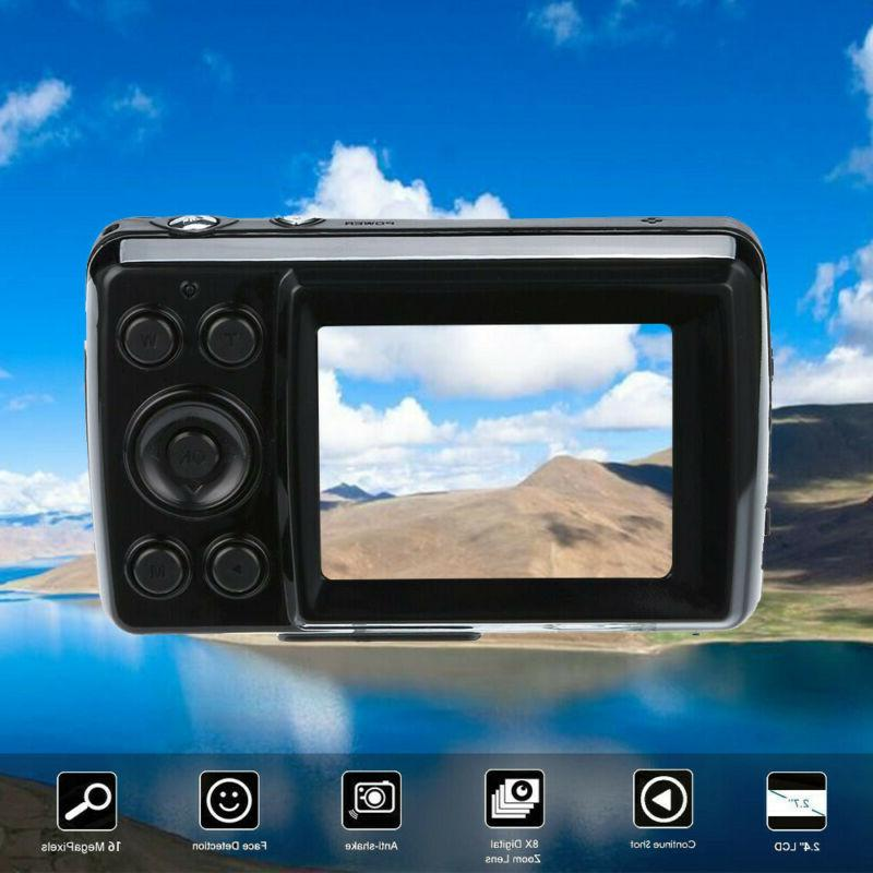 """2.4"""" LCD Camera Zoom Video Camcorder Mic"""