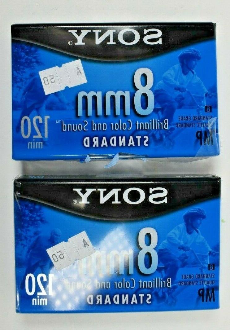 2 Sony 8mm min Grade Brilliant Color and Sound Single A1