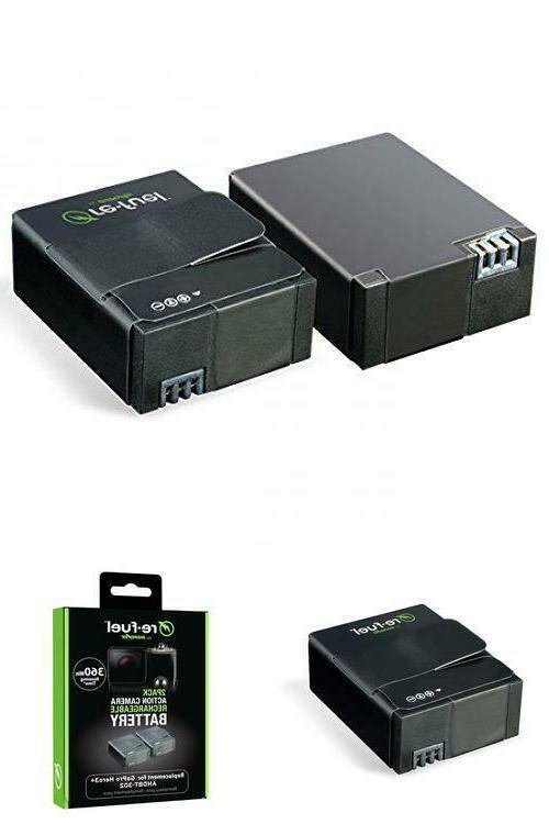 2 rechargeable batteries for gopro hero3 hero3