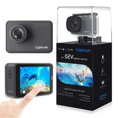 AKASO V50 Pro Native 4K/30fps 20MP WiFi Action Camera with E