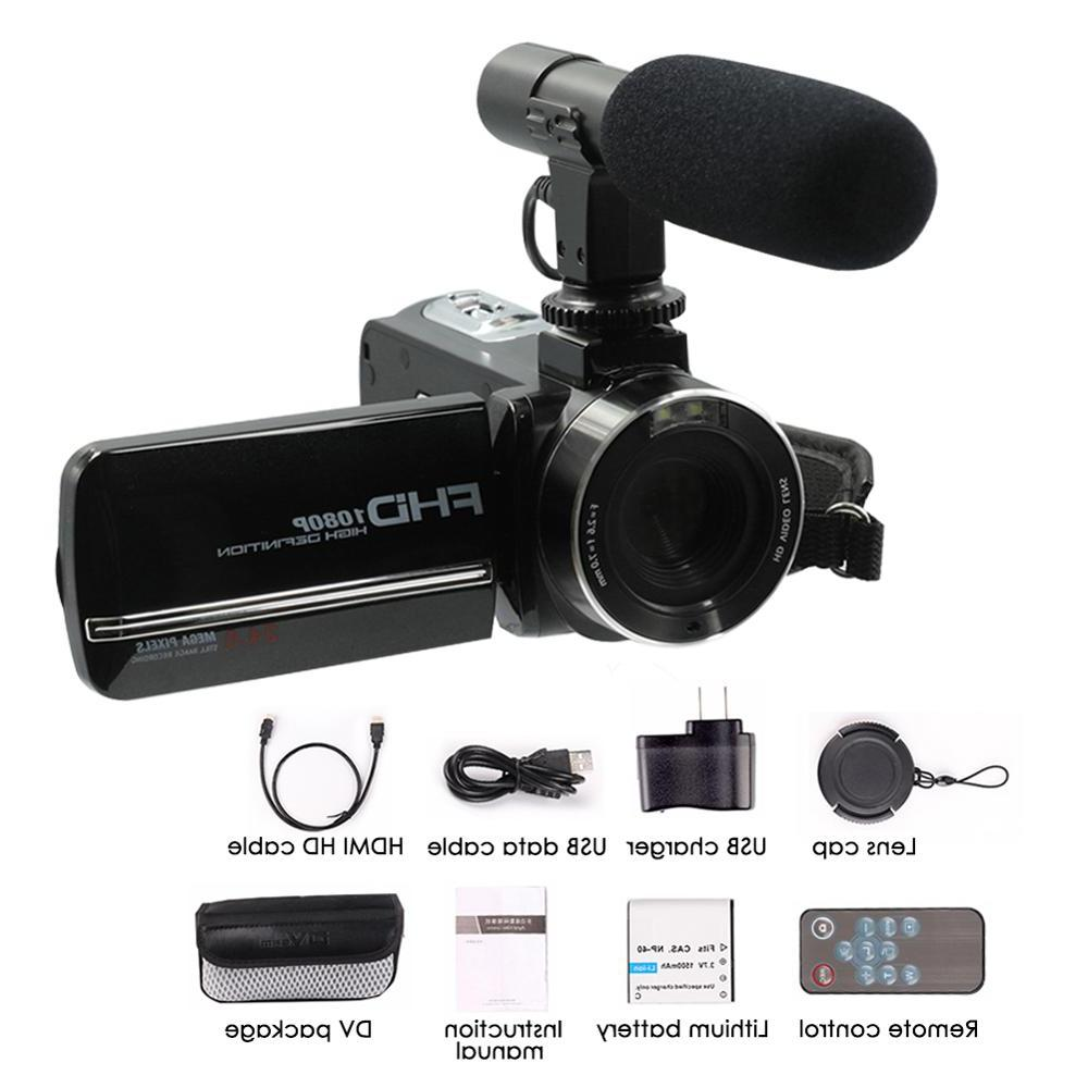 24million Digital Zoom Microphone 1080P Screen DIS Antishake <font><b>SONY</b></font> <font><b>Camcorder</b></font>