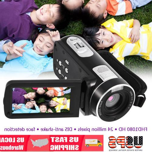 "3.0"" 16X Zoom IR Night Vision Camcorder Full HD 1080P Digita"