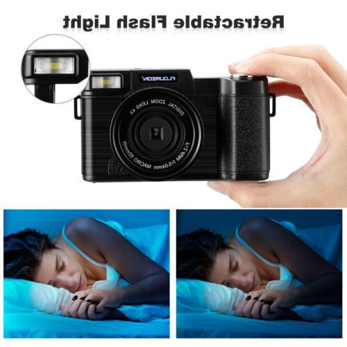 3'' Camera Camcorder 1080P DV 24MP 4X Zoom Wide UV