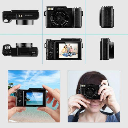 3'' TFT Digital Camera Camcorder 1080P DV 24MP 4X Wide
