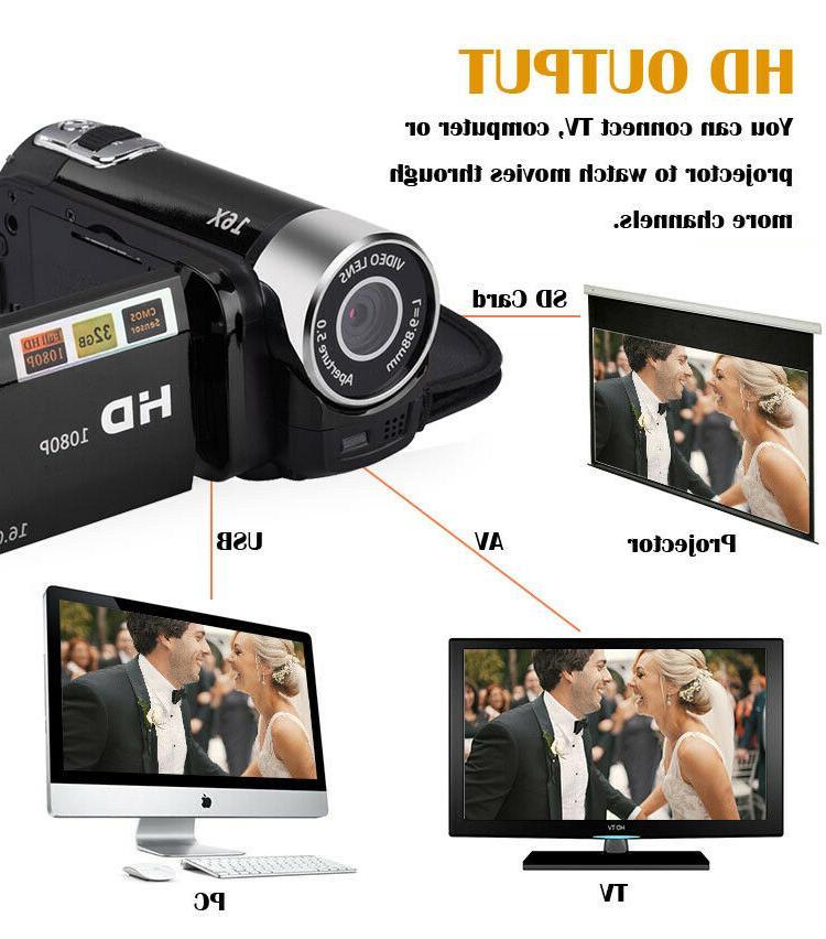3.0 inch LCD HD 16MP 16X Digital Camcorder DV