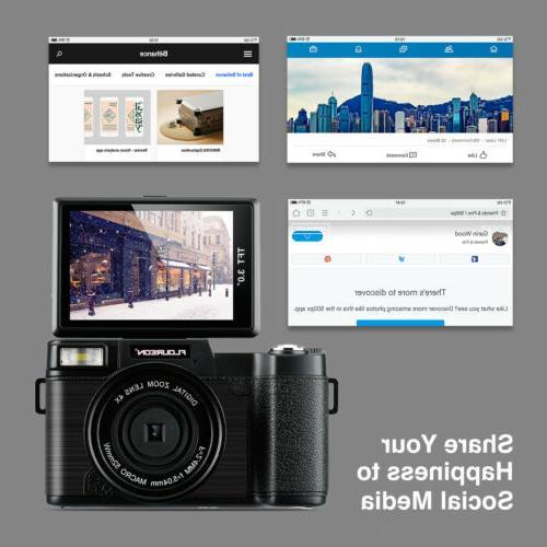 3'' Camcorder 1080P Wide Lens