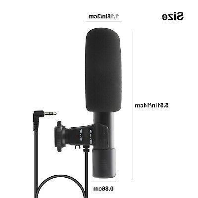 External Stereo Microphone DSLR Panasonic Camcorder