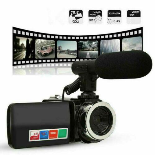 3 digital camera 1080p video 18x zoom