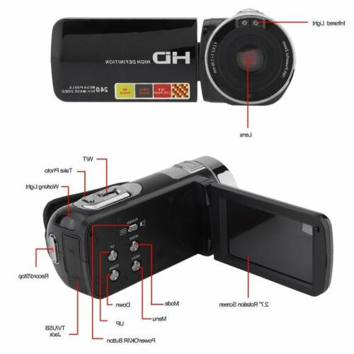 "3"" YouTube Camera 1080P Full HD IR Vision"