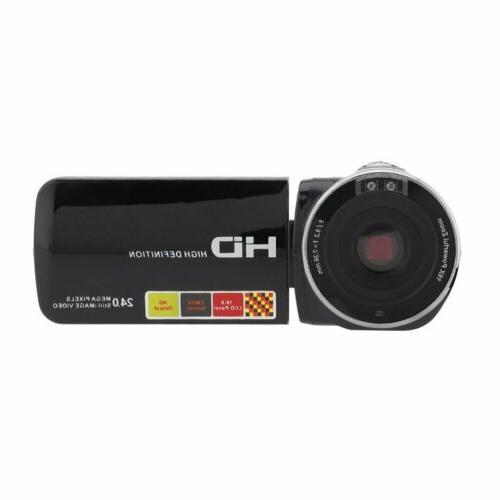 "3"" YouTube Vlogging Video Camera HD 24MP IR Vision"
