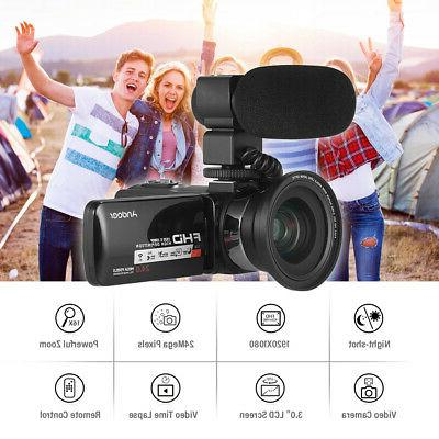 "Andoer 3"" 1080P 24MP 16X ZOOM Night Camera Camcorder"