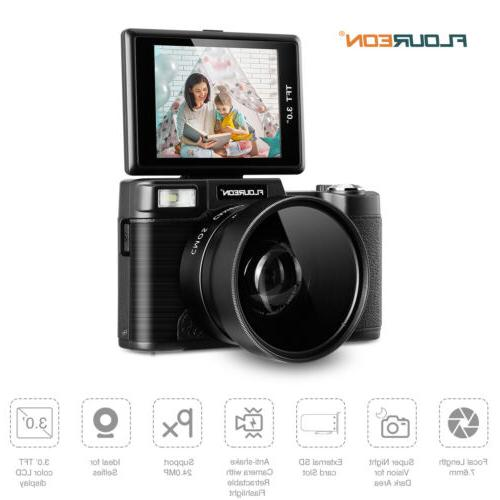 3'' Camcorder 4X Zoom Light Wide UV