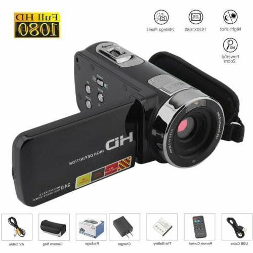 3 youtube vlogging video camera camcorder 1080p
