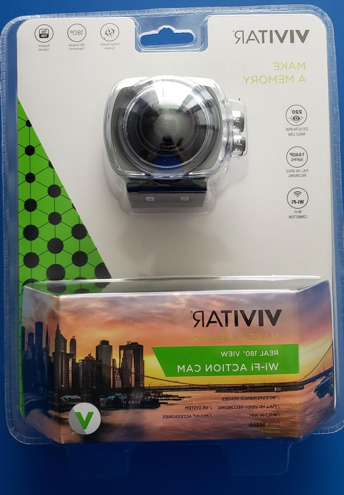 Vivitar 360Cam DVR 968HD 12.1MP Wi-Fi Action Camcorder #DVR9