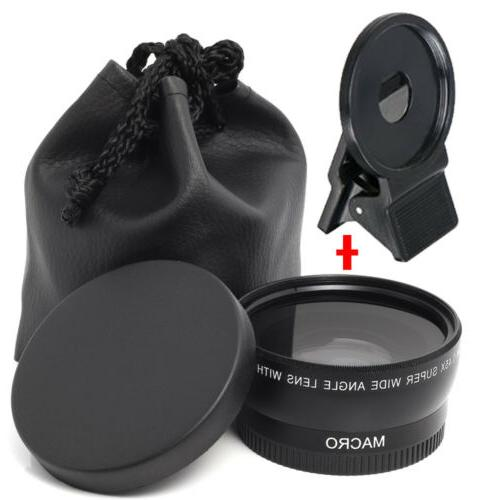 Besteker HD Wide Angle Lens For 37mm Front Threads Camera Ca