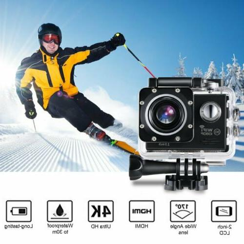 Pro Action Camera 4K WiFi Camcorder Waterproof DV Sports Cam