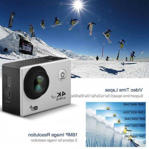 4K 16MP 1080P WIFI Waterproof DVR Recorder Go Pro