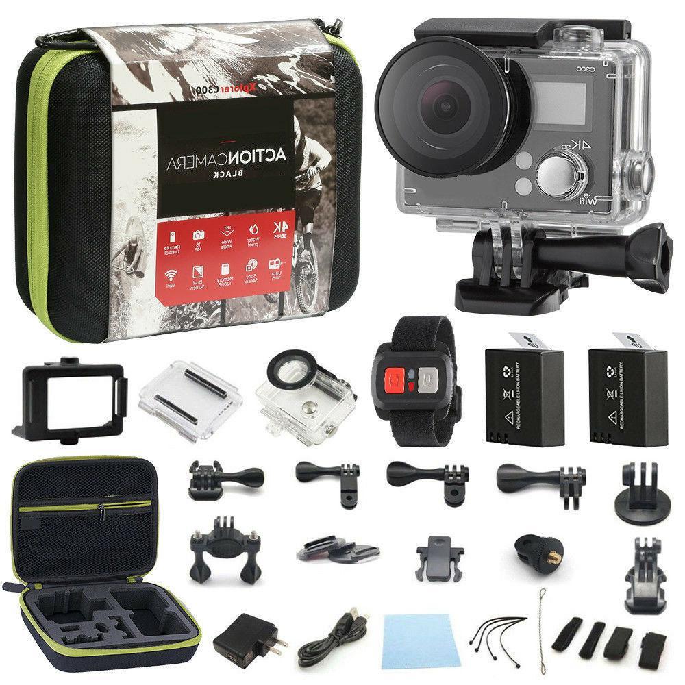 4K Camera Dual Screen 16MP <font><b>Camcorder</b></font> 4k+ Remote Bundle