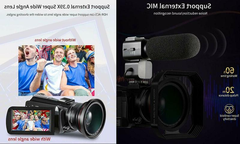 4k Camcorder, Ordro UHD WiFi with Optical /