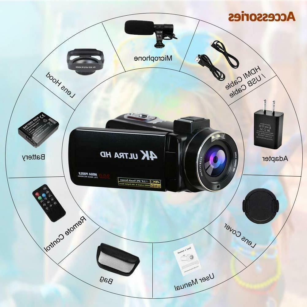 4K Camera for 30MP Camcorder