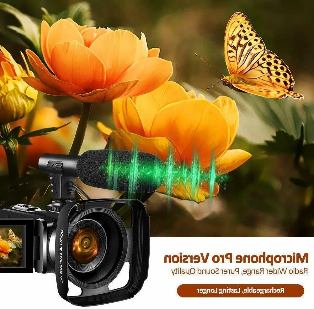 4K Camera YouTube 30MP Camcorder