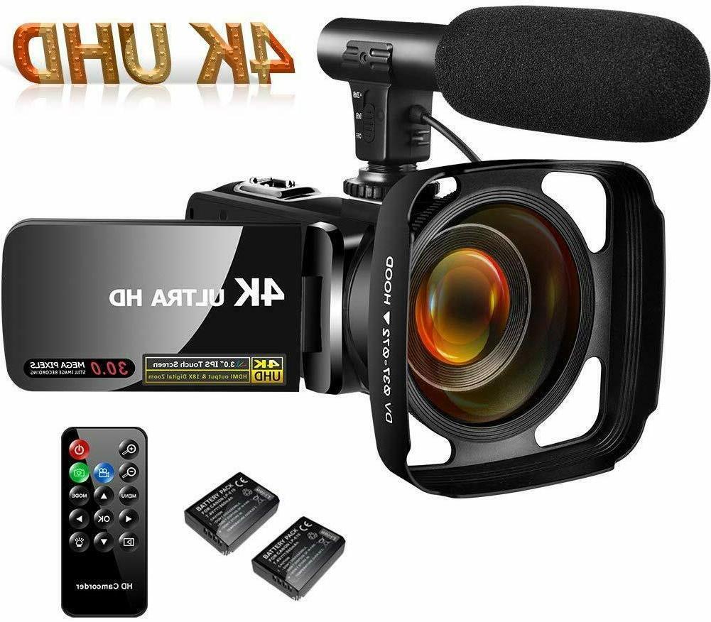 4k camcorder video camera vlogging camera