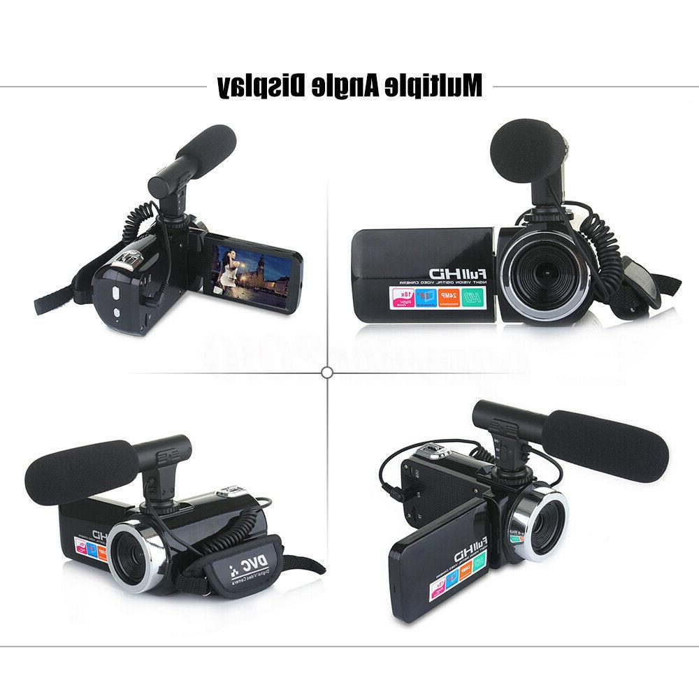 HD 1080P 18X ZOOM Digital Camera Camcorder Night US !