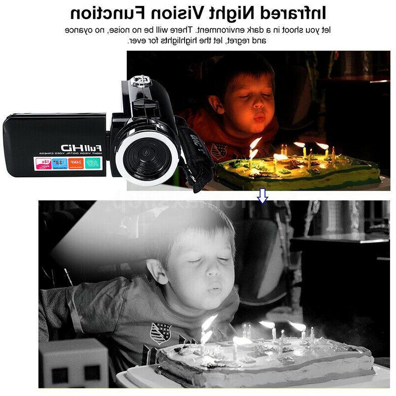 "HD 1080P 24MP 18X ZOOM 3"" Camera Night Vison"