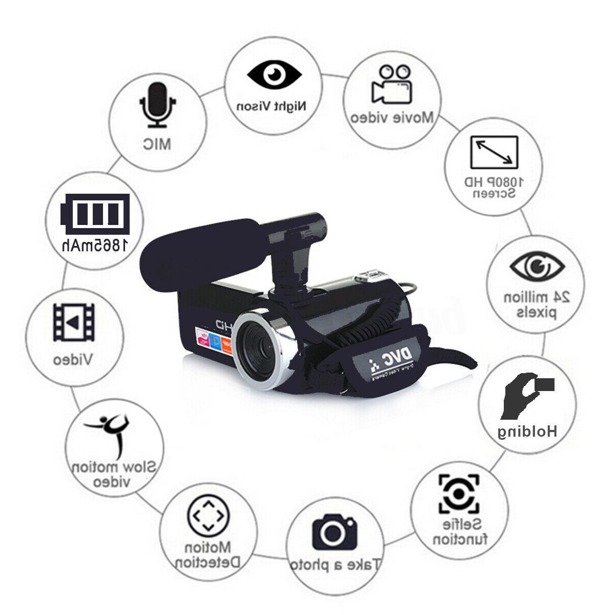 HD ZOOM Digital Camera Camcorder DV Night
