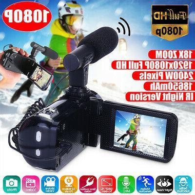 hd 1080p 24mp 18x zoom 3 digital