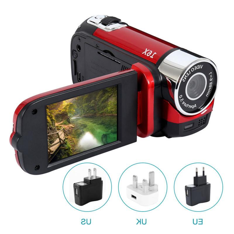 "FULL 2.7""LCD 16X ZOOM Digital Video DV Camera US"
