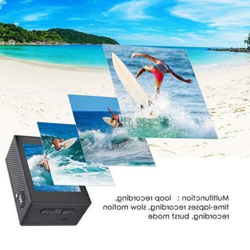 4K 1080P Waterproof Sport WiFi Action Camcorder Pro