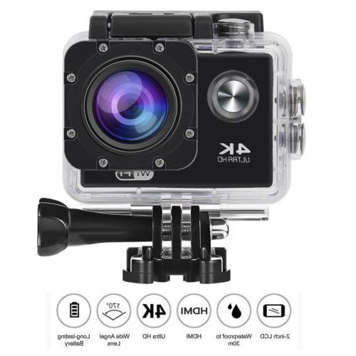 4k ultra hd 1080p waterproof sport camera