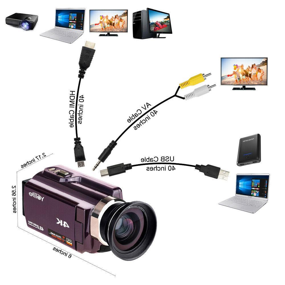 4K Ultra HD 16X ZOOM Digital Camcorder