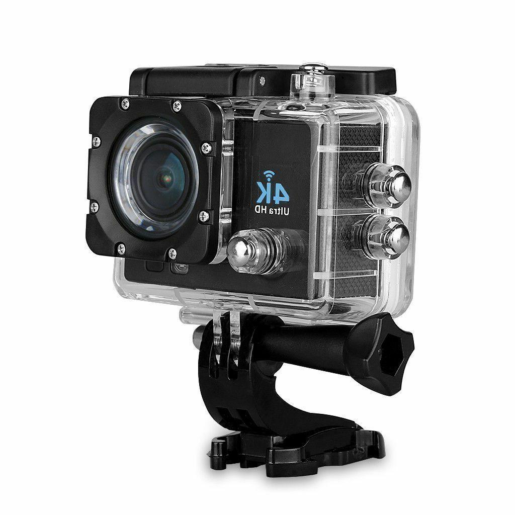 4K DV 16MP Action Camera + Accessory Bundle